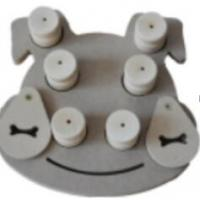 Eco - Friendly Wooden Dog Activity Toys Multi Shapes Enhance Intelligence