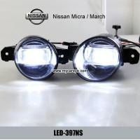 Wholesale Nissan Micra March car fog light upgrade with daytime running light DRL from china suppliers