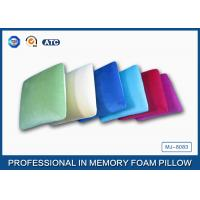 Traditional Shape Memory Foam Pillow : Square Shaped Traditional Memory Foam Pillow With Velvet And Comfort Pillowcase of item 104779213