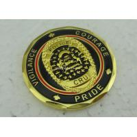 Wholesale Soft Enamel Brass Personalized Coins Die Struck Gold CRU OEM from china suppliers