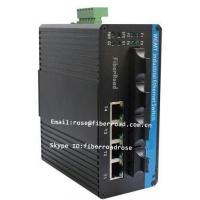 Wholesale Fx Managed Industrial Fiber Optic Ethernet Switch , SFP Media Converter from china suppliers