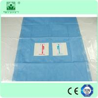 Wholesale Disposable Hospital Surgical Drape with hole Femoral angiography drape w/pouches from china suppliers