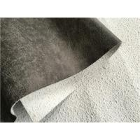 Wholesale Dark Grey Leather Fabric , Hot Stamping Leather Upholstery Fabric from china suppliers