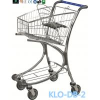 Wholesale Chrome Plated Low Carbon Steel Airport Luggage Trolley Cart With Baby Seat 40L from china suppliers