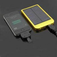 Wholesale Aluminum alloy solar chargers 2600mAh solar power bank from china suppliers