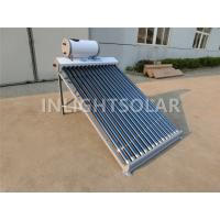 Wholesale Galvanized Steel Vacuum Tube Solar Collector With Feeding Tank For Heating Project from china suppliers