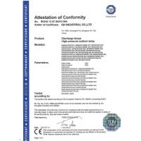 GH Industrial Co., Ltd. Certifications