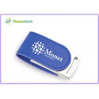 Wholesale CE Blue Eco Leather USB Flash Disk 4GB For Promotional Product from china suppliers