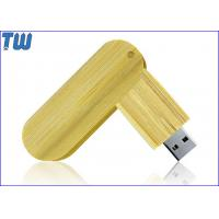 Wholesale Twister USB Thumb Drive Natural Wood Bamboo Material Capless Design from china suppliers