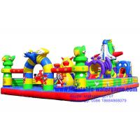 Wholesale Professional Amusement Inflatable Fun City / Inflatable Fun Land 0.55mm PVC Material from china suppliers