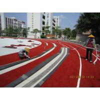 Wholesale Red 9000 Dtex Artificial Grass , 25 mm Synthetic Grass Lawn For Running Track from china suppliers