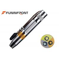 Wholesale Strong Light Stainless Steel Gem LED Flashlight with 3 Light Sources from china suppliers