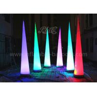 Wholesale 210D Oxford Cloth Inflatable Cone , Inflatable LED Tube Lighting Tip Cone from china suppliers