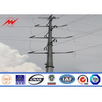 Quality 69kv Galvanized Steel Utility Power Poles For Power Transmission Line Project for sale