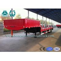 Wholesale High Efficiency Low Bed Semi Trailer For Road Transport / Heavy Duty Machine from china suppliers