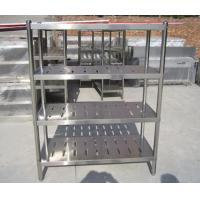 Wholesale Customized Commercial Restarant / Supermarket Stainless Steel Display Racks Light duty structure from china suppliers