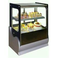 Quality Cake Refrigerator Display Showcase Copper Colored For Cafe And Restaurant for sale