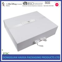 Wholesale White Printed Foldable Gift Box Cardboard Corrugated Materials With Ribbon from china suppliers