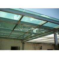 Quality 6.38-25.52mm PVB Laminated Security Glass , Blue Laminated Architectural Glass for sale