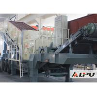 Wholesale Portable Combined Mobile Stone Crusher Plant With Double - Axle Tyre from china suppliers