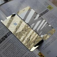 Wholesale Front + Back Tempered Glass Screen Protector For iPhone 6 Diamond Mirror Metal Protective Film from china suppliers
