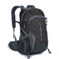 Wholesale Free LOGO Lightweight Travel Backpack Black  40L Wear Resistant Waterproof from china suppliers