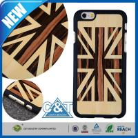 Wholesale Genuine Bamboo Panel Iphone 6 Hard Wood Cell Phone Cases With UK Flag Painting from china suppliers