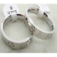 Wholesale stainless steel screw ring with rose color LRX49 from china suppliers