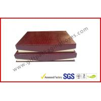 Wholesale Leather Magnetic Box Customized Crocodile Leather Paper  Satin Covered Foam from china suppliers