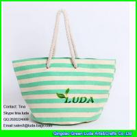 Wholesale LUDA striped summer shopper bag large cheap paper straw beach bags from china suppliers
