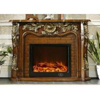 Wholesale Free Standing Classic Flame Electric Fireplace , RV Antique Fireplace Surround from china suppliers