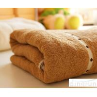 Wholesale Thickening / Widened Pure Cotton Bath Towels Brown Colors Various Designs from china suppliers