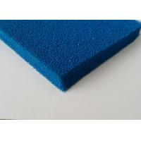 Wholesale Good Resilience Smooth Open Cell Silicone Foam Rubber Sheet In Blue , Red Color from china suppliers