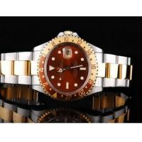 Wholesale Authentic Rolex GMT watch Automatic GMT Working Full Gold With Black Dial-Green Bezel from china suppliers