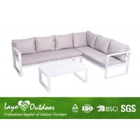 Quality Nice 3 PCS Aluminium Garden Furniture Sofa Seat Easy Maintenance / Cleaning for sale