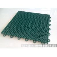 Wholesale Green Plastic PP Recycled Futsal Court Flooring For Outdoor 25x25x1.27cm from china suppliers
