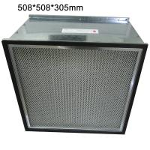 Galvanized Frame Fiberglass Media Ventilation System Hepa Efficiency HVAC Air Filters