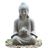 Quality Outdoor Buddha Water Fountain For Garden , Customize Voltage Granite Color for sale