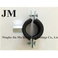 Wholesale M8 Connection Pipe Wall Mounting Bracket , 3/8 Inch Rubber Cushioned Loop Clamps from china suppliers