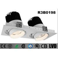 Buy cheap Interior 2 * 30W Square LED Recessed Downlight Adjustable SHRAP Chip Dimmable from wholesalers