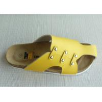 Wholesale Custom Yellow Cork + EVA Cork Slippers Summer Casual For Shopping from china suppliers