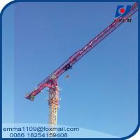 Wholesale Large 24t QTP8025 Electric Flat Top Tower Crane 80m Long Arm Cost from china suppliers