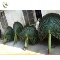 Wholesale UVG semicircle palm tree artificial leaf in silk leaves for indoor watertown landscaping from china suppliers