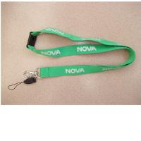 Wholesale China factory wholesale flat polyester neck lanyards, OEM polyester screen print lanyards from china suppliers