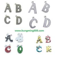 Wholesale Rhinestone Letter Pendant,Alphabet Pendant,DIY Letters from china suppliers