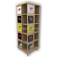 Wholesale Wooden Floor Rotating Clothing Shop Display Cabinets For Garment Retail Stores from china suppliers