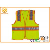 Wholesale Mesh High Visibility Reflective Safety Vests , Construction Worker Safety Work Vest with Pockets  from china suppliers
