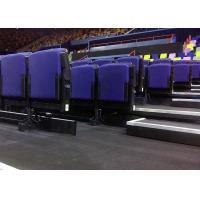 Wholesale Cinema Upholstered Indoor Bleacher Systems , Audience Systems Seating Fixed To Floor / Wall from china suppliers