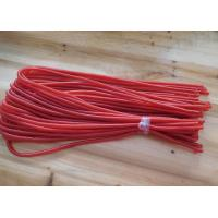 Wholesale Plastic Safety Red Spiral Lanyard Ropes Red PU Covered Stainless Steel Wire Inside from china suppliers