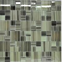 Wholesale Grey green puzzel glass kitchen tiles from china suppliers